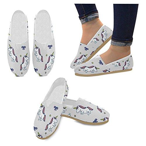 Interestprint Femmes Mocassins Classique Casual Toile Glisser Sur La Mode Chaussures Sneakers Appartements Multi 21