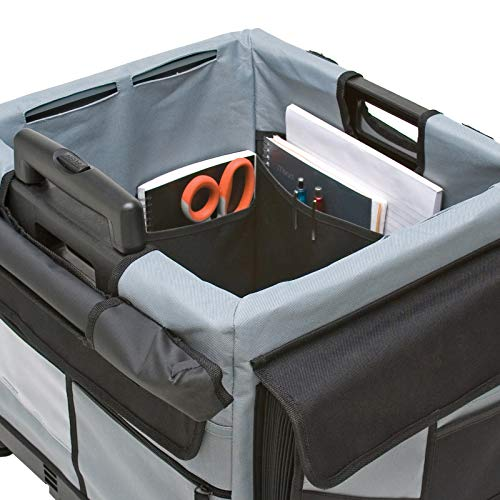 ECR4Kids MemoryStor Universal Rolling Cart and Organizer Bag Set, Black by ECR4Kids (Image #6)