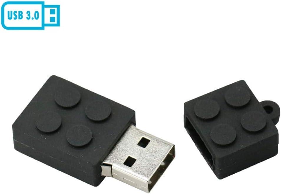 64GB Building Block Model USB 3.0 Flash Drive PenDrive Pen Drive USB Stick Cartoon Toy Brick Flash Drive USB 3.0 Stick Black