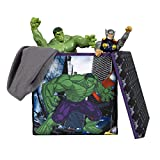Everything Mary Hulk Collapsible Storage Bin with Lid by Marvel - Cube Organizer for Closet, Kids Bedroom Box, Playroom Chest - Foldable Home Decor Basket Container with Strong Handles and Design