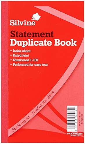 Silvine Duplicate Large Feint 200 Sheets Statement Book Pack Of 6