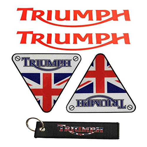 (LLAP Motorcycle Keychain for Triumph Sticker Reflective Vinyl Carbon Fiber Decals Set (5 Packs))