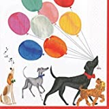 Dog Party Cocktail Napkins Paper Napkins Dog Birthday Party Charlee's Parade Pack of 40