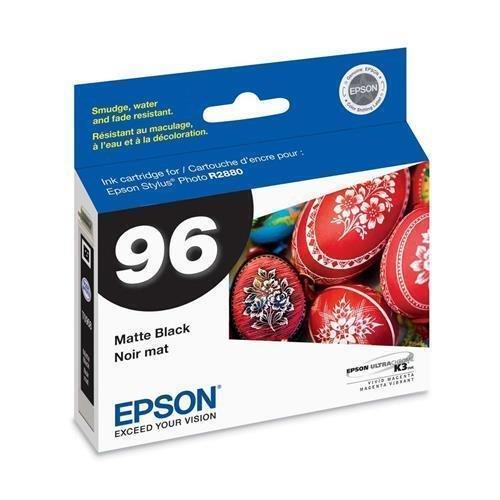 R2880 Matte - T096820 Epson No. 96 Matte Black Ink Cartridge - White, Blue - Inkjet - 1 Each