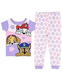 Paw Patrol Little Girls Toddler Short Sleeve Cotton Pajama Set (5T)