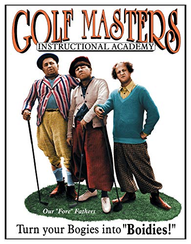 - Desperate Enterprises The Three Stooges - Golf Masters Tin Sign, 12.5