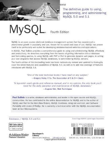 MySQL (4th Edition) by Brand: Addison-Wesley Professional