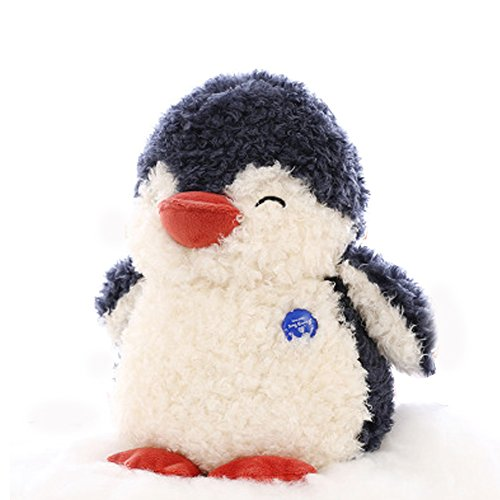 Stuffed Penguin - Plush Animal That's Suitable For Babies and Children (10'', Black-1)