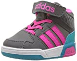 adidas Neo Girls' BB9TIS Mid Inf Sneaker, Grey Four/Shock Pink/Grey Five, 6 Medium US Toddler