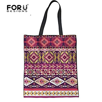 4c2c772043 Image Unavailable. Image not available for. Color  FORUDESIGNS Fashion Women  Beach Bags Women s African Traditional Design Reusable Shopping Bag ...