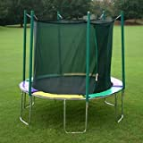 Kidwise Magic Circle 10 Ft Round Trampoline With Safety Cage