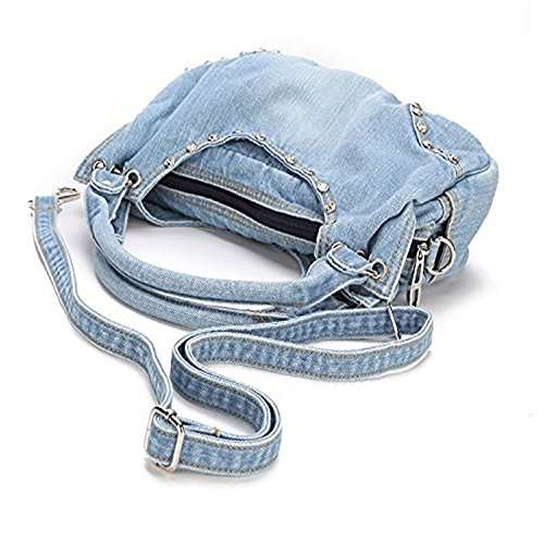 Shoulder Style Bag Crossbody A Handbag Cute Abuyall Women Sweet Hobo Messenger Jean Denim Tote Denim Pub Travel Bag Diamonds HgxTE6q
