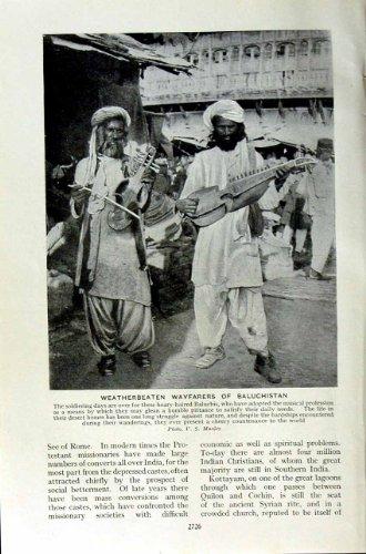 c1920 INDIA NATIVE MAN BALUCHISTAN WAYFARERS NATIVES