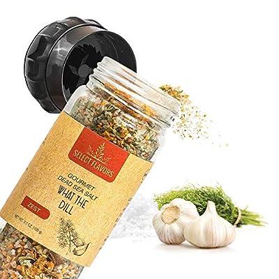 Select Flavors Zesty Gourmet Dill Weed Seasoning with Tarragon, Garlic, and Lemon 3.5 oz Grinder Top