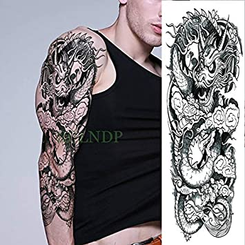 HXMAN Impermeable Tatuaje Temporal Pegatina Dragón Chino Estilo De ...