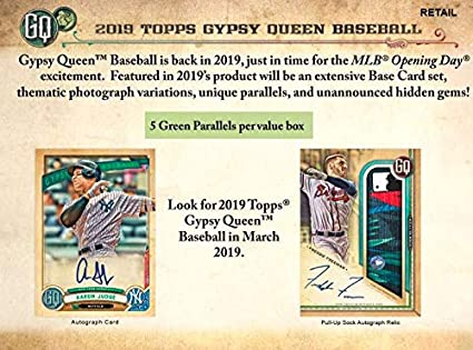 Amazoncom 2019 Gypsy Queen Baseball Blaster Box 8 Packs6 Cards