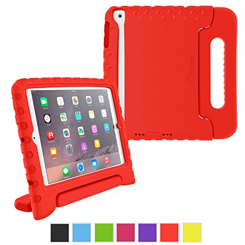 rooCASE iPad Mini 3 Case - KidArmor Kid Proof EVA iPad Mini 3 2 1 Convertible Handle with Kickstand Kids Friendly Protective Cover Case for Apple iPad Mini 3 2 1, Red