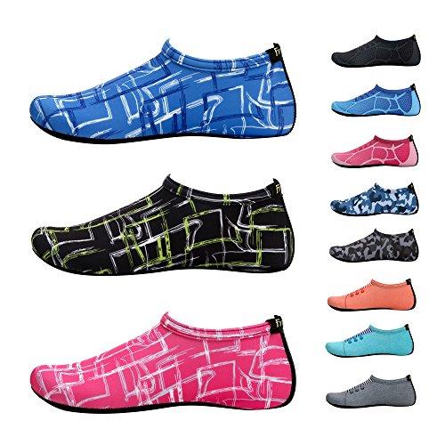Frei neue barfuß Wasserhaut Schuhe Aqua Socken für Beach Swim Surf Yoga Übung F.blau