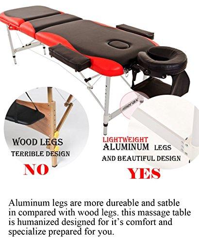 Merax WF015763JAA Aluminium 3 Section Portable Folding Massage Table Facial SPA Tattoo Bed by Merax (Image #1)