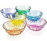 13 oz Unbreakable Premium Bowls - Set of 6 - Tritan Plastic - BPA Free - 100% Made in Japan (Assorted Colors)