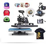 Mophorn Heat Press Machine 12X15 Inch Digital Transfer Sublimation T-Shirt/Mug/Hat/Plate/Cap 5in1 Heat Presser(12x15)