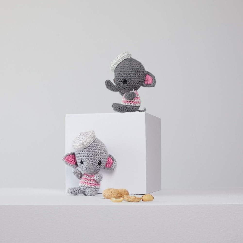 Pink crochet elephant pattern - Amigurumi Today | 1000x1001