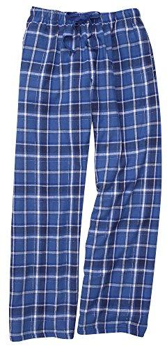 (Boxercraft Plaid 100% Cotton Flannel Pant w/Pockets, YOUTH Royal Blue Sparkle-M)