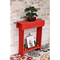 Red Skinny Wall Table