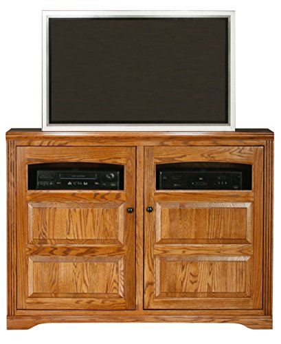 Eagle Oak Ridge Thin Flat Panel Entertainment Console, Caribbean Rum Finish