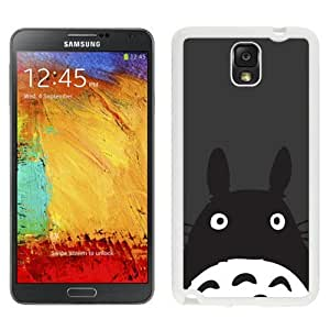 NEW Unique Custom Designed Samsung Galaxy Note 3 N900A N900V N900P N900T Phone Case With Totoro Minimal Art Illustration_White Phone Case