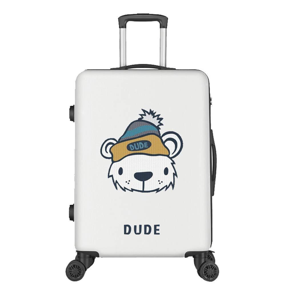 、スーツケースハードシェルスーツケース軽量ABS 4輪トラベルトロリーケース20 \24\ 28 \-White-S(20in) B07T49RHQD White S(20in)
