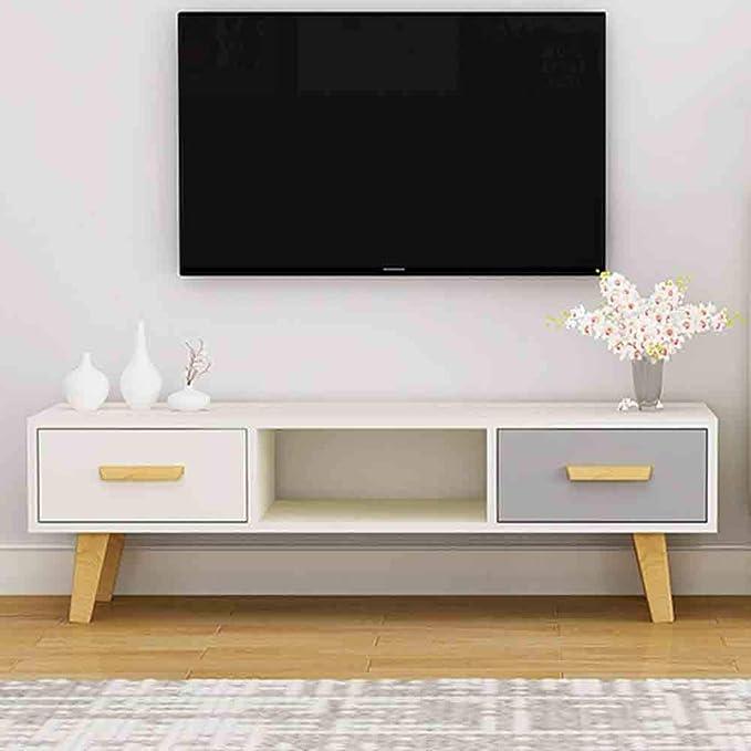 WJHH Soporte de TV Creativo Moderno Estante de Almacenamiento de Reproductor de DVD Simple con cajones para Apartamentos: Amazon.es: Hogar
