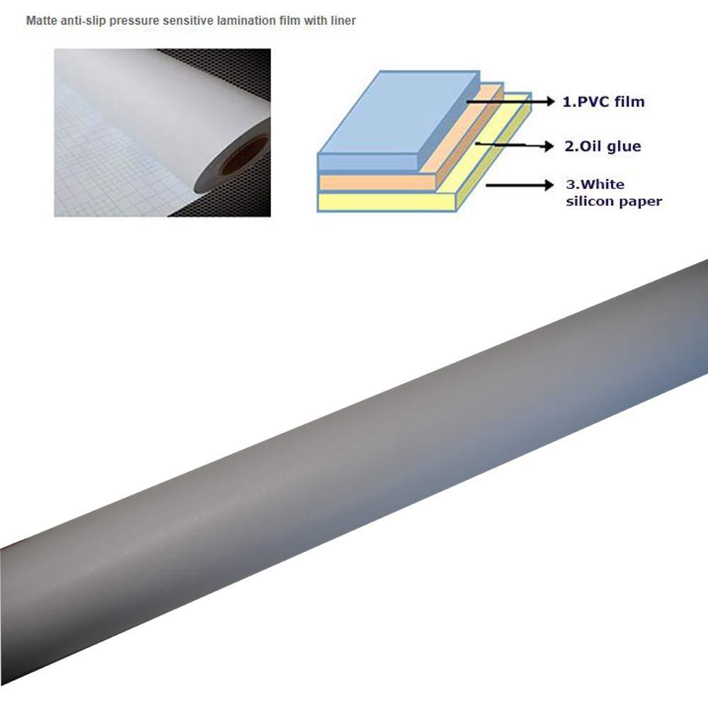 54'' (1.37m) x 150 Ft Matte Floor Laminating Film 3'' Core Anti-Slip Pressure Sensitive Lamination Film, UL410 - in US Stock by H-E (Image #7)