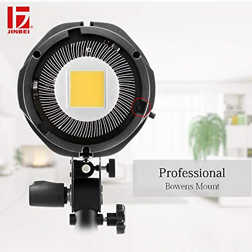JINBEI EF-150 150Ws Dimmable LED Video Light Continuous Lamp with Bowens Mount Daylight Balanced Video Light 5500K for YouTube Vine Portrait Photography Video Lighting Studio Interview RA 95+ by JINBEI (Image #7)
