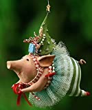 Patience Brewster Joyful Flying Pig Ornament