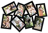 MCS Industries 8 Openings Zig-Zag Collage Frame, 4 by 6-Inch, Black