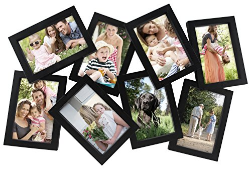 MCS Zig-Zag Collage Frame with 8-4x6 Openings, Black (65710)