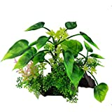 Teydhao Aquarium Decorations Fish Tank Artificial Green Water Plants Made of Silk Fabrics Plastic, Non-Toxic & Safe for All Fish & Pets