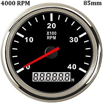 KAOLALI 3000 RPM Tachometer Waterproof AUTO Digital Tacho Gauge ...