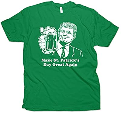 Daft Threads Trump Make St Patrick's Day Great Again Funny Men's T-Shirt