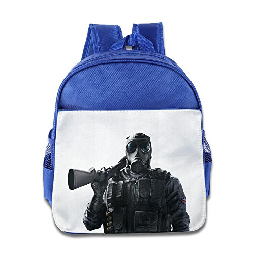 Price comparison product image XJBD Custom Cute Tom Clancy's Rainbow Six Siege Kids Children School Backpack For 1-6 Years Old RoyalBlue