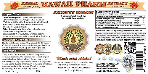 Anxiety Care Tincture, Kava Kava Piper Methysticum Root, Valerian Valeriana Officinalis Root, Passion Flower Passiflora Incarnata Leaf Liquid Extract 2×4 oz