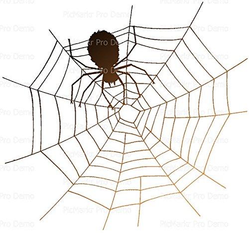 (1/4 Sheet - Halloween Spiderweb - Edible Cake/Cupcake Party)