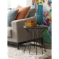 Elle Decor Fleur Side Table, Noir Black