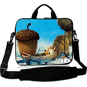Brinchs Handmadecraft Cute Cartoon 12 12.5 Inch Laptop Shoulder Bag with Ice Age Continental Drift(5) Waterproof Canvas Fabric Laptop / Notebook / MacBook / Ultrabook Computers(Twin Sides)