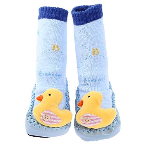 chaussettes chaussure Antidérapant Bleu Crochet Clair noir Pour Chausson Semelle Jtc Plancher Avec Bébé Et Blanc txaAT