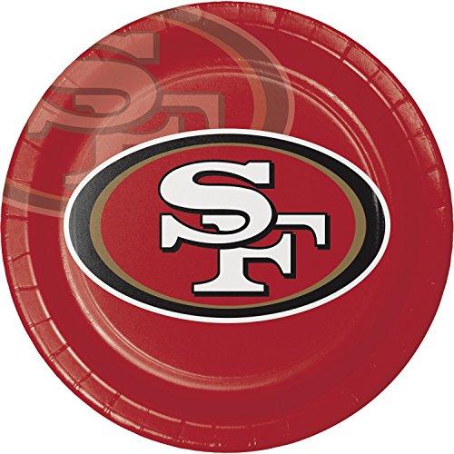 San Francisco 49ers Paper Plates, 24 ct - San Francisco 49ers Paper