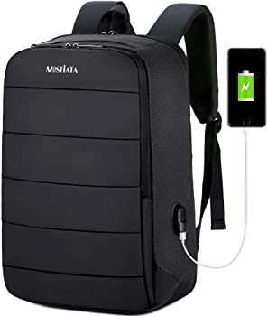 Mosfiata 17.3 Inch Laptop Backpack with USB Charging Port