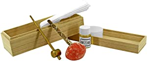 Swiss Craft Japanese Samurai Sword Maintenance Katana Cleaning Kit with Blade Oil, cleaning cloth, Rice Paper, and small storage Box