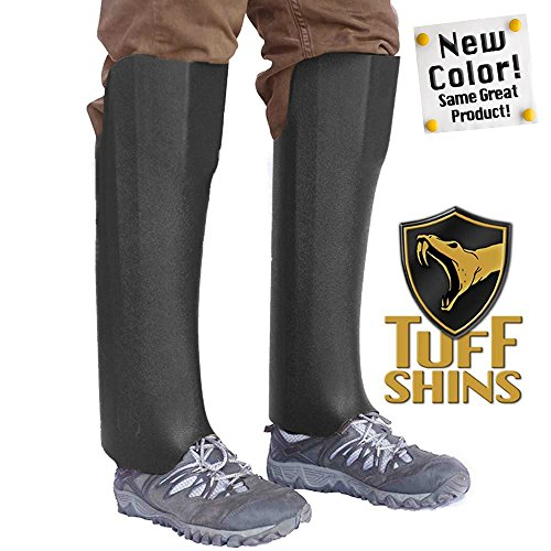 Tuff Shins - Plastic Snake Leggings, Black (Old version was Olive Green) - one size